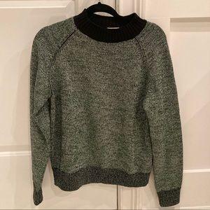 Dries Van Noten Green Metallic Sweater Medium